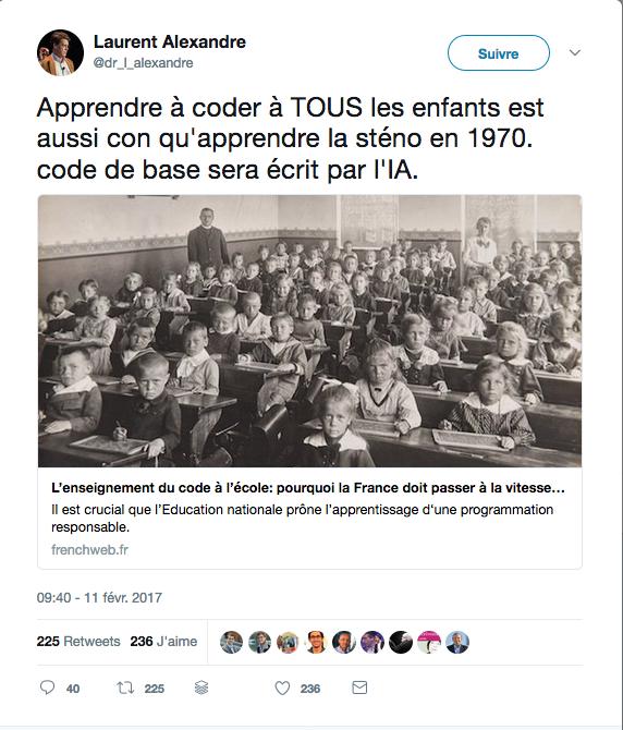 L'enseignement du code à l'école